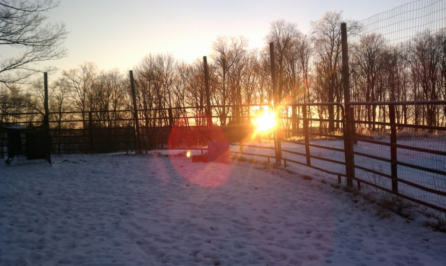 The sun sets over the beautiful Sullivan County dairy farm we enjoyed the chance to visit.